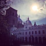 Cuenca ner stadområde Royaltyfria Bilder