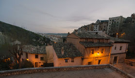 Cuenca Night. Night view of the medieval town of Cuenca, Spain Stock Images