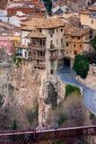 Cuenca, Olivenölseifen-La Mancha, Spanien, hängende Häuser Lizenzfreie Stockfotografie