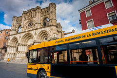 Cuenca, Olivenölseifen-La Mancha, Spanien, Kathedrale Stockbild