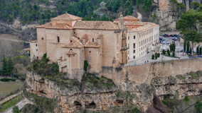 Cuenca parador top view, Spain Stock Photo