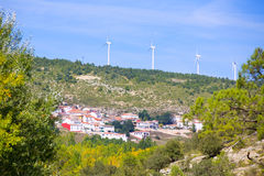 Cuenca San Martin de boniches village with windmills Stock Image