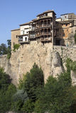 Cuenca som hänger hus - La Mancha - Spanien Royaltyfri Foto