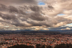 Aerial View Of Cuenca City, Ecuador Stock Photo
