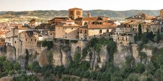 Cuenca Spain, casas colgadas. Cuenca Castilla-La Mancha, Spain, the famous casas colgadas, Unesco World Heritage SIte royalty free stock images