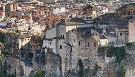 Cuenca Spain, casas colgadas Stock Photos