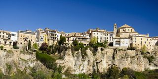 Cuenca, Spain. Panoramic view Royalty Free Stock Photography