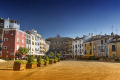 Cuenca Spanien, Kathedralenquadrat Lizenzfreies Stockfoto
