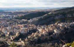 Cuenca stad i det LaMancha området i centrala Spanien Arkivbild