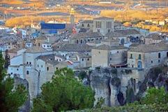 Cuenca sur le coucher du soleil Images libres de droits