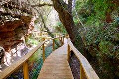 Cuenca Villar Del Humo wioski rzeka obrazy royalty free