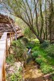 Cuenca Villar Del Humo wioski rzeka zdjęcie stock