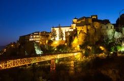Cuenca w nocy Hiszpania Zdjęcie Royalty Free