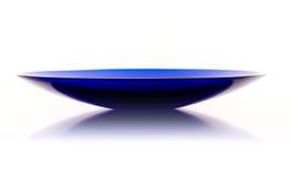 Cuenco azul de cristal de Murano Imagen de archivo