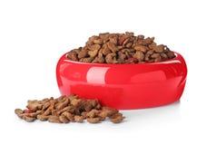 Cuenco de alimento para animales seco foto de archivo