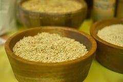 Cuenco de arroz entero fotografía de archivo