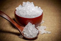 Cuenco de azúcar blanco de la roca Imagen de archivo libre de regalías