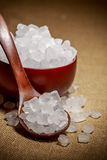 Cuenco de azúcar blanco de la roca Fotos de archivo libres de regalías
