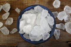 Cuenco de azúcar blanco de la roca Fotos de archivo