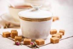 Cuenco de azúcar de la porcelana Fotografía de archivo