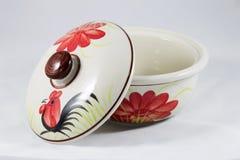 Cuenco de cerámica del gallo Imagen de archivo libre de regalías