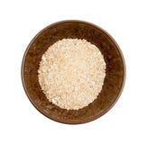 Cuenco de cereal aislado de la cebada imágenes de archivo libres de regalías