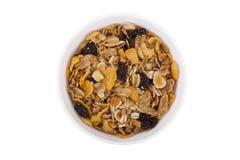 Cuenco de cereal de desayuno Imagen de archivo libre de regalías