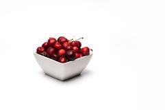 Cuenco de cerezas Imagen de archivo libre de regalías
