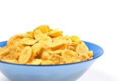 Cuenco de copos de maíz para el desayuno Fotos de archivo