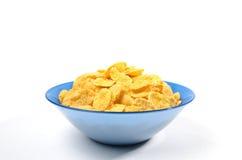 Cuenco de copos de maíz para el desayuno Imágenes de archivo libres de regalías