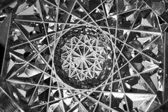 Cuenco de cristal tallado--macro Imagen de archivo libre de regalías