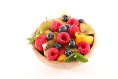 Cuenco de ensalada de fruta imagenes de archivo