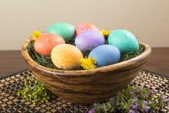 Cuenco de huevos de Pascua Fotografía de archivo libre de regalías