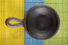 Cuenco de la cerámica seco Fotos de archivo libres de regalías