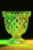 Cuenco de la confitería de cristal tallado Imágenes de archivo libres de regalías