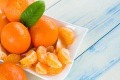 Mandarines frescos Foto de archivo libre de regalías