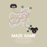 Cuenco de Maze Game With Dog And Fotos de archivo