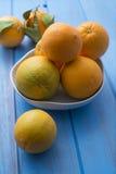 Cuenco de naranjas Fotografía de archivo libre de regalías