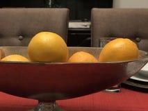 Cuenco de naranjas imagen de archivo