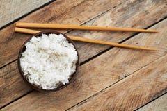 Cuenco de palillos del arroz y de la comida Imagen de archivo libre de regalías
