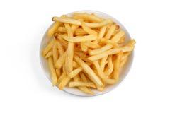 Cuenco de patatas fritas Fotos de archivo