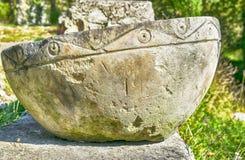 Cuenco de piedra para los rituales Foto de archivo