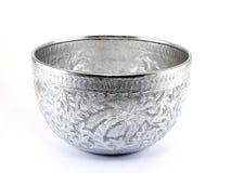 Cuenco de plata del agua Imagen de archivo libre de regalías
