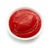 Cuenco de salsa o de salsa de tomate de tomate imagen de archivo libre de regalías