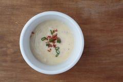 Cuenco de sopa cremosa Fotografía de archivo