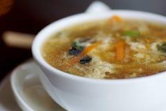 Cuenco de sopa de fideos Foto de archivo