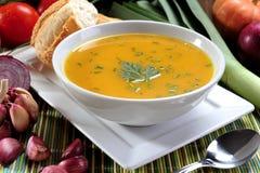 Cuenco de sopa de la calabaza Imagen de archivo libre de regalías