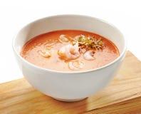 Cuenco de sopa de la crema del tomate Imagen de archivo libre de regalías