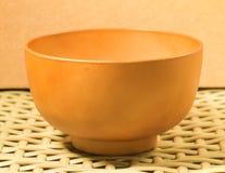 Cuenco de sopa de madera de Brown Fotografía de archivo libre de regalías