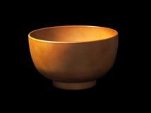 Cuenco de sopa de madera marrón vacío Fotografía de archivo